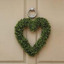 Artificial Topiary Hanging Love Heart Christmas Door Wreath Grave