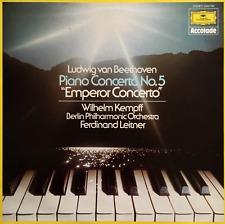 "BEETHOVEN - Concerto For Piano And Orchestra No. 5 ""Emperor"" Berlin PO/Kempff LP"