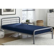 6 inch Twin Size Quilted Twin Bunk Mattress Navy Blue Kids Bedding Bedroom