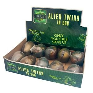 Alien Twins In An Egg Childrens Toy Rubber Putty Slime Party Bag Gift Fun Play