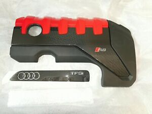 New Audi RS3 8V TTRS 2.5 TFSI Genuine Carbon Engine Manifold Cover Set DAZA DNWA