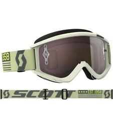 Scott Recoil XI Gafas de motocross beige/Marrón Con Cromado Compatible Lente