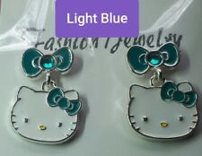 Hello Kitty, Stud Earrings, Ring, Light Blue, Authentic Sanrio, Silver plated