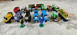 Thomas The Train Magnetic Wooden Trains & Misc Lot Of 19