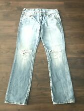 True Religion Denim Jeans Size 33x32 Straight Fit
