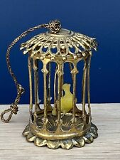 ANTIQUE ERHARD & SOHNE DOLL'S HOUSE MINIATURE GILT BRASS BIRD CAGE