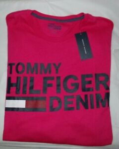 NWT MENS TOMMY HILFIGER DENIM S/S T-SHIRT~PINK~SZ XL