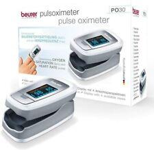 Beurer PO 30 Pulsoximeter Ermittlung der Herzfrequenz (Grau / Weiß)