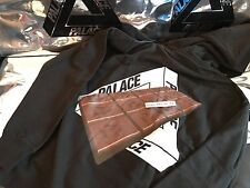 PALACE SKATEBOARDS LARGE FW16 TRI COCO HOOD HOODIE BLACK L TRI FERG CHOCOLATE