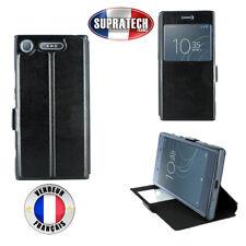 Etui Rabattable Noir Avec Ouverture Ecran pour Sony Xperia XZ1