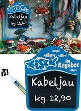 A-Aufsteller  320 x 180 mm Preisschild Theke Kreidetafel Angebotsschild,