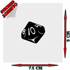 Sticker Adesivo Decal i'm The Dungeon Master D&D Dado D10 Auto Moto Tuning