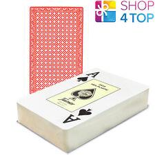 FOURNIER 2826 BRIDGE 100% PLASTIC PLAYING CARDS DECK RED JUMBO INDEX NO BOX NEW