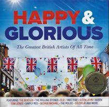 HAPPY & GLORIOUS - The Greatest British Artists Of All Time (NEW SEALED 2CD)