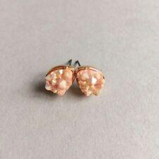 Designer Inspired Elegant Water Drop Light Pink Druzy Statement Stud Earrings