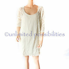 ROXY Wishbone Crochet Tunic Dress Sea Spray Size Small Tags ARJKD03098