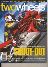 Two Wheels Magazine Aug 2003 SV1000S Daytona 600 CB1300 K1200GT Sachs Deauville