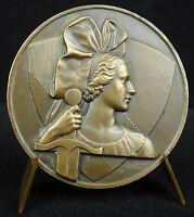 Medalla Estrasburgo navío línea joven estrasburgo, en tocado trad medal