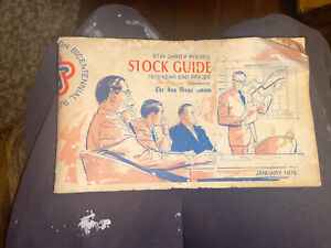 The Stock Exchange, Standard And Poors Guide 1976 Year End Prices