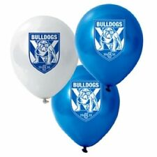 Official NRL Canterbury Bulldogs Birthday Party Helium Balloons (10 Pack)