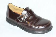 Birkenstock Footprints Brown Leather Buckle Loafers Women EU 38 / US 7