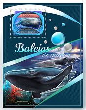 Guinea-Bissau 2016 Mnh Whales 1v S/S Sperm Whale Marine Animals Stamps