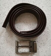 """Men's Brown Leather Belt up to 44"""""""