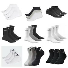 Adidas Socks 3 Pairs Mens Womens Crew Ankle No show Cotton Sports Socks Running