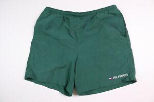 Tommy Hilfiger Men's Large Swim Trunks Spellout Green Nylon