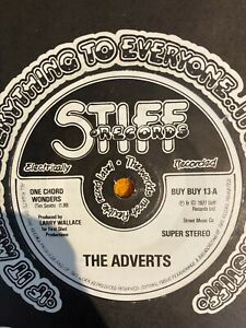 "The Adverts One Chord Wonders 7"" Single Matrix A1/B1"