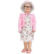 Old Lady Costume Toddler Grandma Halloween Fancy Dress