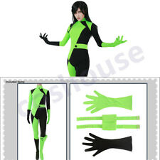 Kim Possible Shego Bodysuit Cosplay Costume Jumpsuit Suit Fancy Dress