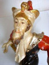 """Moriskentänzer alt, mit löwenbesetzter Mütze """"ZAUBERER"""" 36cm, Blattgoldbesatz"""