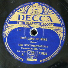 78rpm THE SENTIMENTALISTS - BILLY COTTON this land of mine / my own darby & joan