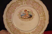 Unmarked calendar plate 1911, 8 1/2""