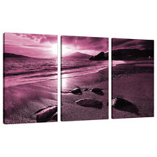 3 Piece Plum Purple Large Canvas Art Pictures Wall Prints Bedroom 3078