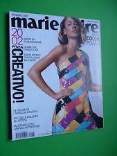 Marie Claire fashion magazine Gennaio 2002 Natasha Vojnovic cover  MODA ITALIA