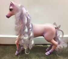"Barbie and the Magic of Pegasus ""Brietta"" Pegasus Purple Pink Horse Toy AS IS"