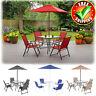 Patio Table Chairs Umbrella Dining Bistro Set Outdoor Garden Folding Furniture
