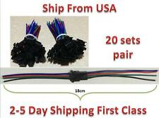 20sets pair led strip 4pin 100mm Wire Male/female RGB connector Wire Cable