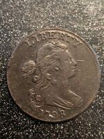 1798 Draped Bust Large Cent Grade Rarity High VF++/XF