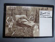 alte Postkarte - Trauerkarte - Erinnerung an den Tod - Kanzler Otto von Bismarck