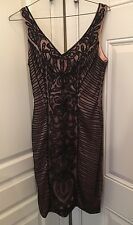 SUE WONG Black Great GATSBY Cocktail Evening Illusion Dress Size 2 Flapper