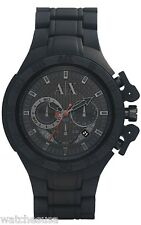 Armani Exchange Chronograph Black Dial Black Aluminium Mens Watch AX1187