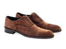 Hombres Zapatos De Gamuza Oxford. hecho en Italia. Negro o Marrón