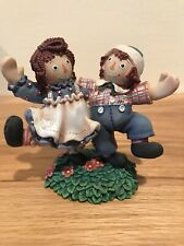 """Raggedy Ann and Andy Enesco Figure """"Smiles and Happiness are Truly Catching"""""""
