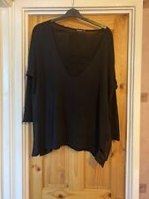 Ladies Boohoo Black Light Jumper With Lace Insert To Next Size 20