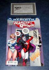 HARLEY QUINN #15 signed 1st print FRANK CHO variant DC REBIRTH COMIC powergirl