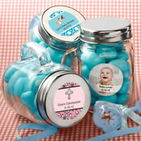 30 96- Personalized Glass Mason Jar - Baby Shower Baptism Birthday Party Favors