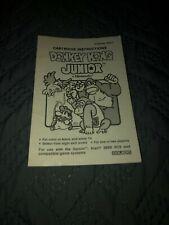 Coleco Gemini Atari 2600 Donkey Kong Jr. B&W Manual Only FREE SHIPPING!!!